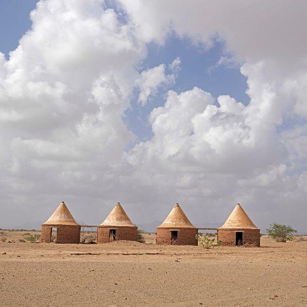 """""""Casas de transporte, Puerto Sudán, noviembre de 2016""""."""
